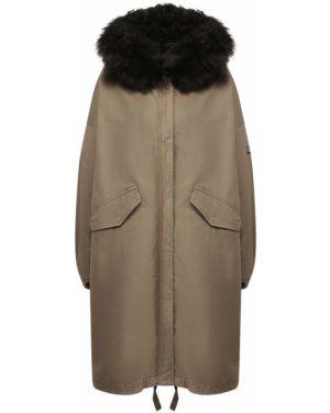 Куртка на овчине зеленая Lempelius