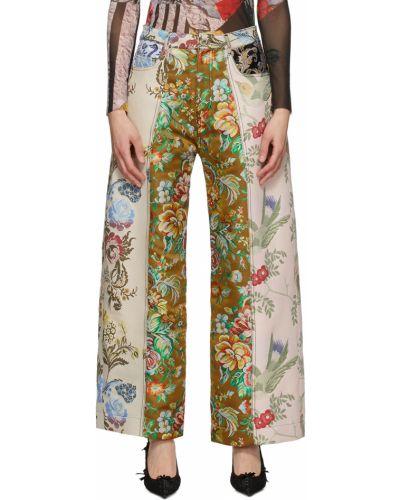 Spodnie khaki - beżowe Marques Almeida