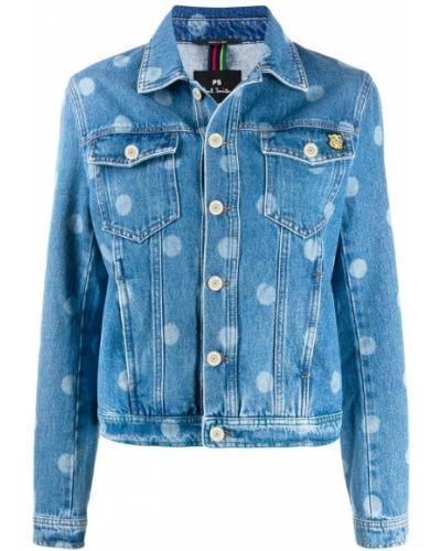 Синяя джинсовая куртка с манжетами на пуговицах Ps Paul Smith