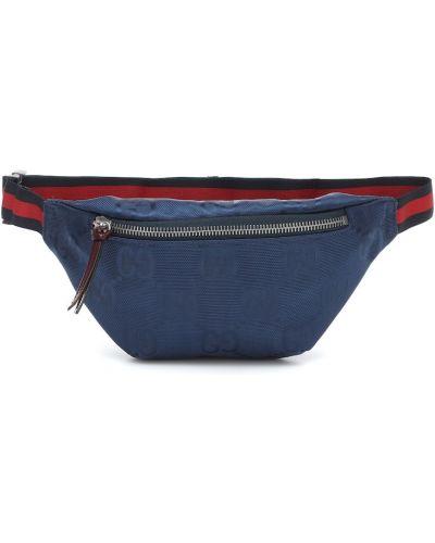 Niebieski skórzany torba z paskiem Gucci Kids