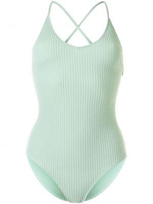 Пляжный зеленый купальник с шортами с вырезом Duskii
