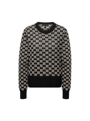 Хлопковый пуловер - коричневый Escada