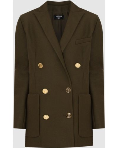 Пальто двубортное Balmain