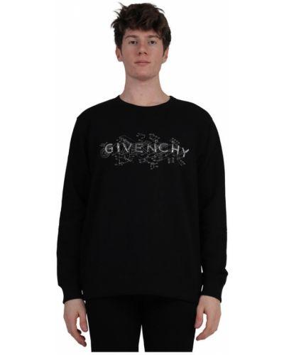 Czarna bluza z długimi rękawami bawełniana Givenchy