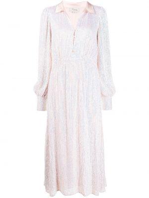 Вечернее платье с пайетками в стиле бохо на пуговицах с V-образным вырезом Temperley London