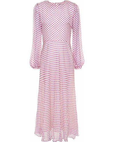 Шелковое платье миди с подкладкой Paul & Joe