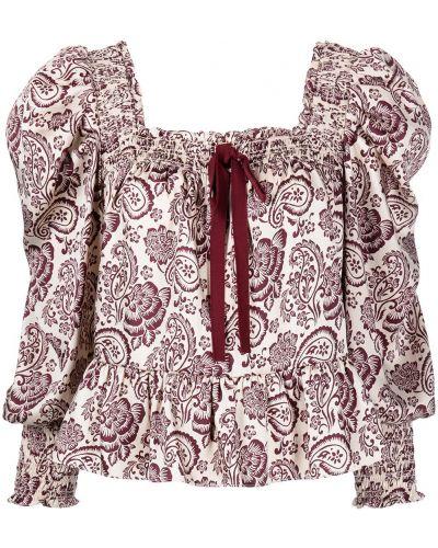 Блузка с бантом - красная Cinq À Sept