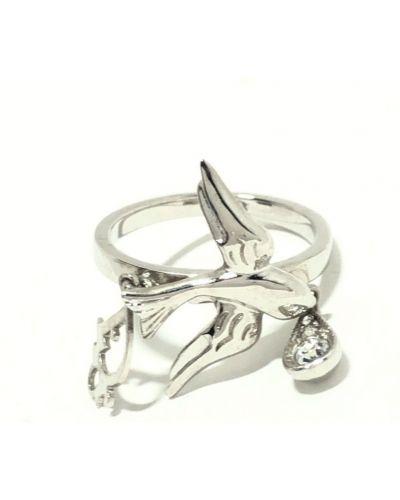 Szary pierścionek Dior Vintage