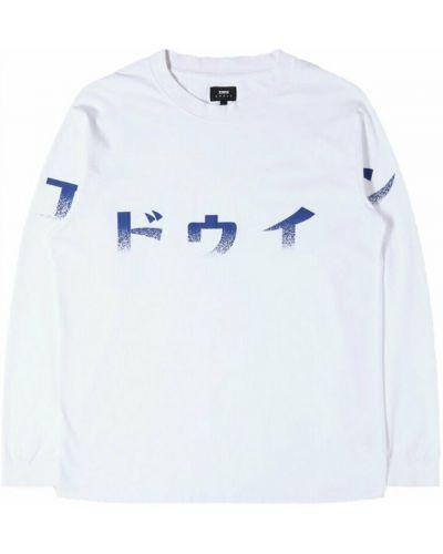 Biała koszulka z printem Edwin