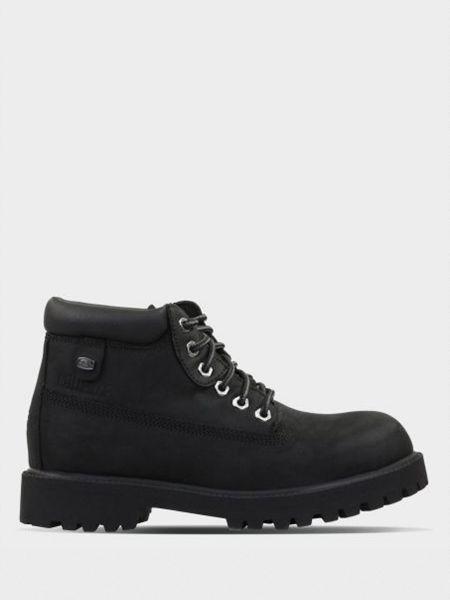 Ботинки из нубука - черные Skechers