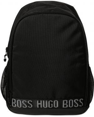 Czarny plecak na laptopa z siateczką z nylonu Hugo Boss