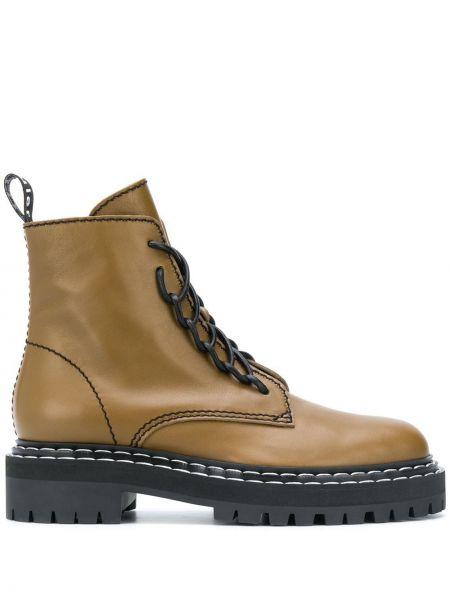 Ажурные кожаные сапоги на шнуровке Proenza Schouler