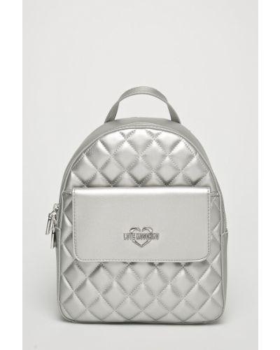 Рюкзак серебряного цвета Love Moschino