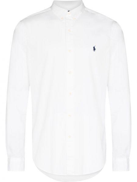 Белая рубашка с воротником Polo Ralph Lauren