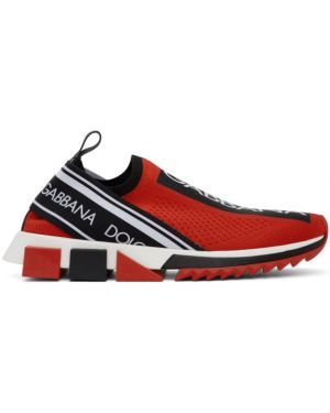 Кроссовки с логотипом черные Dolce & Gabbana