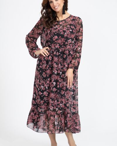 Шифоновое нарядное с рукавами платье прима линия