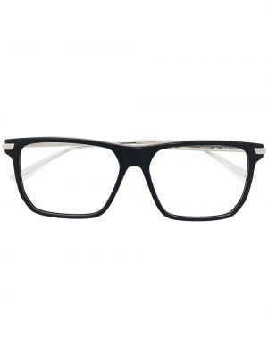 Золотистые черные очки металлические прозрачные Bottega Veneta Eyewear
