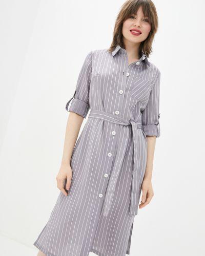 Платье в полоску - серое Danna