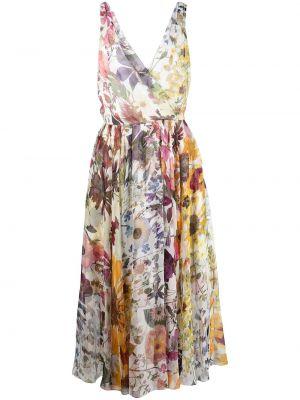 Шелковое платье миди Oscar De La Renta