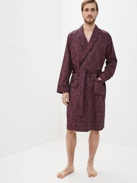 Бордовый домашний халат Marks & Spencer