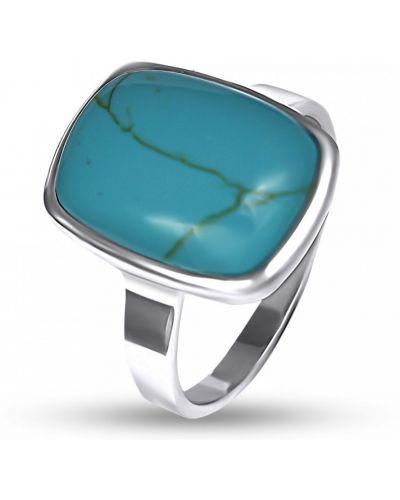 Кольцо с камнями - бирюзовое Bigsun