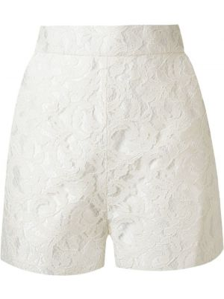 Однобортные белые шорты с карманами Martha Medeiros