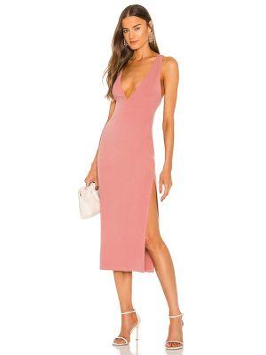 Розовое платье из спандекса Michael Costello
