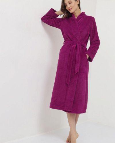 Фиолетовый домашний махровый халат Luisa Moretti
