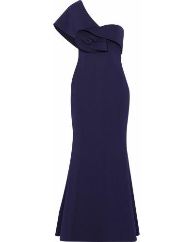 Niebieska sukienka Badgley Mischka