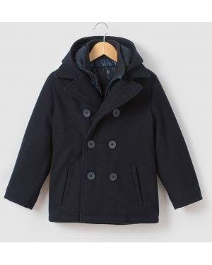 Пальто с карманами шерстяной La Redoute Collections