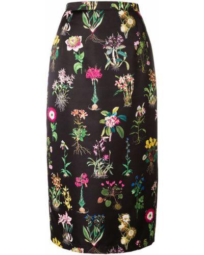 Юбка миди с завышенной талией с цветочным принтом N21