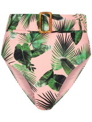 Różowy bikini vintage z printem Alexandra Miro