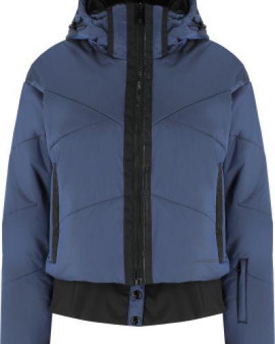 Свободная утепленная синяя куртка горнолыжная Glissade