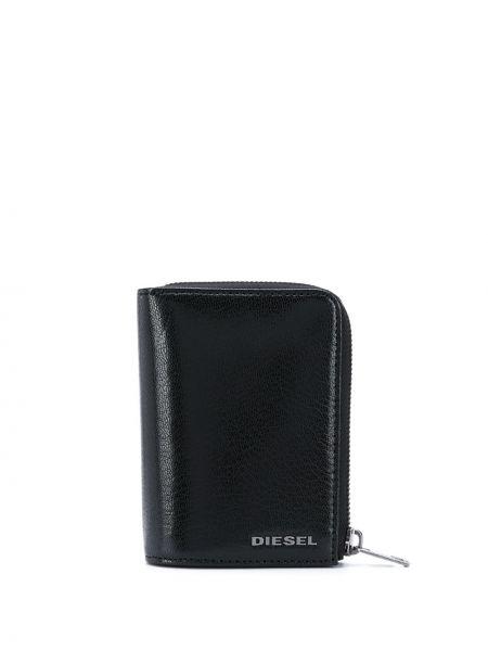 Srebro portfel na monety z kieszeniami z gniazdem z prawdziwej skóry Diesel