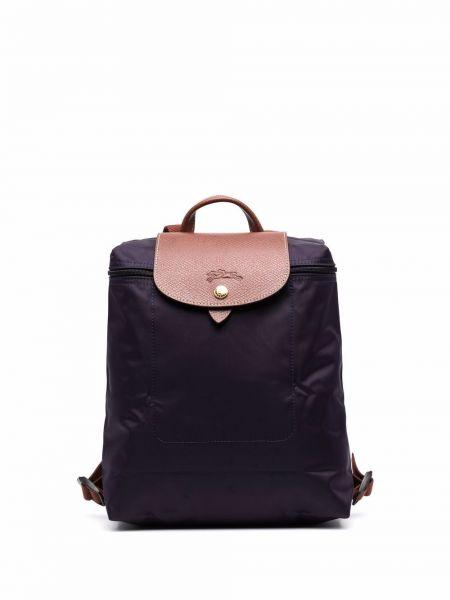 Кожаный рюкзак - фиолетовый Longchamp