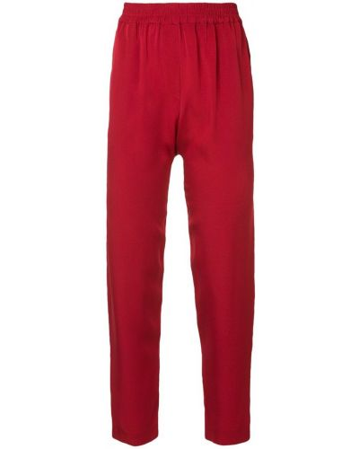 Плиссированные укороченные брюки с поясом Layeur