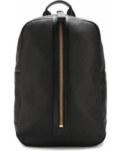 Рюкзак черный кожаный Tom Ford