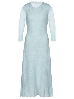 Шерстяное синее платье миди для полных Dorothee Schumacher