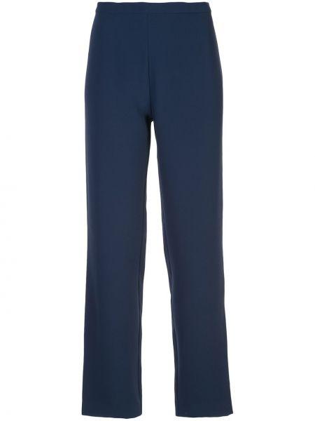Прямые синие брюки с воротником с поясом Natori