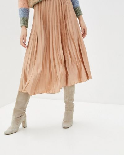 Бежевая плиссированная юбка Haily's