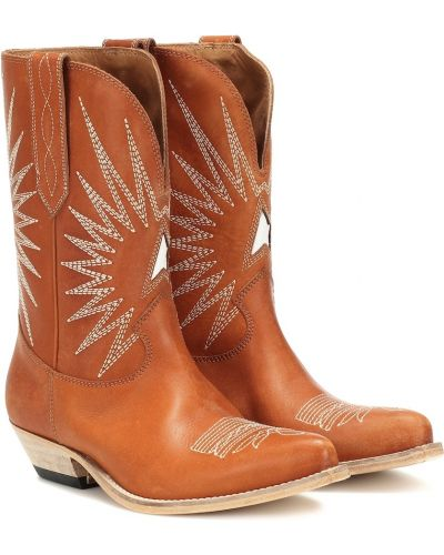 Buty na obcasie na pięcie kowboj Golden Goose