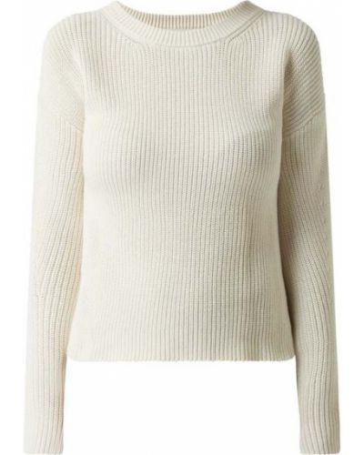 Prążkowany biały sweter bawełniany Moves