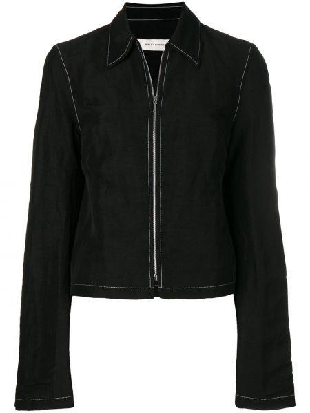 Черная куртка на молнии с воротником Wales Bonner
