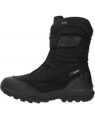 Теплые черные кожаные сапоги Tecnica