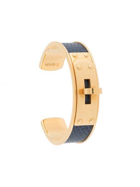 Niebieska złota bransoletka ze złota Hermes