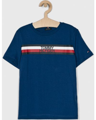 Футболка футбольный синяя Tommy Hilfiger