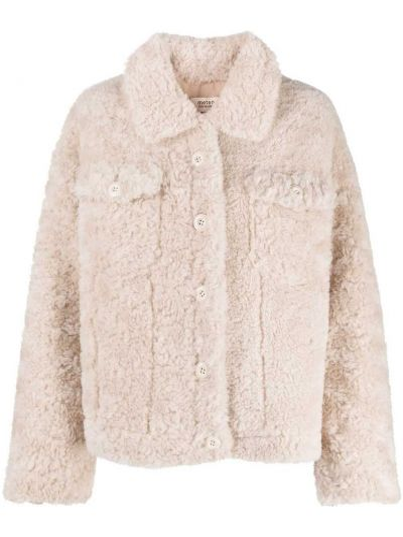 Короткая куртка из овчины с воротником на пуговицах Yves Salomon Meteo