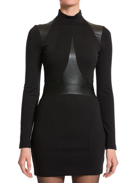 Платье из вискозы - черное Plein Sud