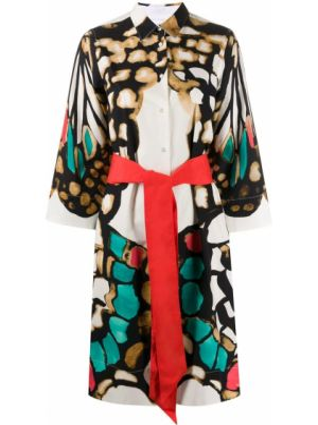 Классическое платье миди с поясом Sara Roka
