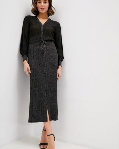 Повседневное черное платье Falconeri